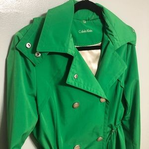 New with tags Calvin Klein green trench coat